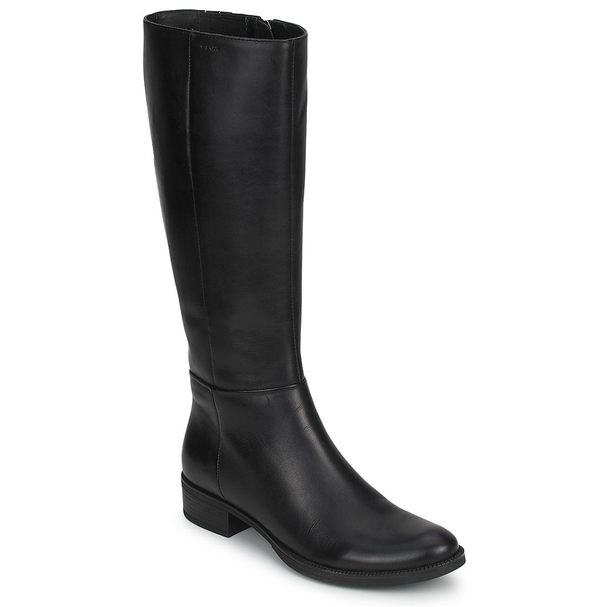 Geox MENDI STIVALI BASIC Schwarz - Kostenloser Versand bei Spartoode ! - Schuhe Klassische Stiefel Damen 101,40 €