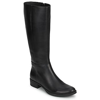 Schuhe Damen Klassische Stiefel Geox MENDI STIVALI BASIC Schwarz