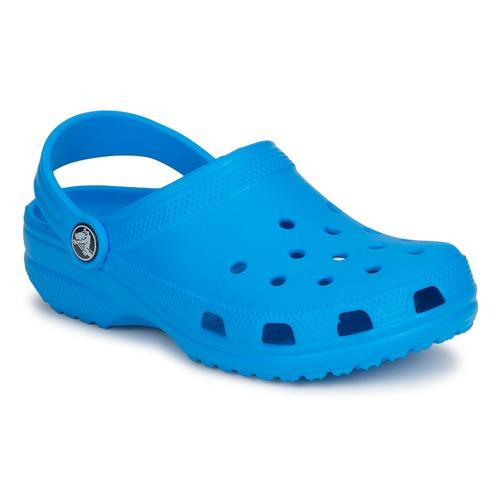 Schuhe Kinder Pantoletten / Clogs Crocs CLASSIC CLOG KIDS Blau