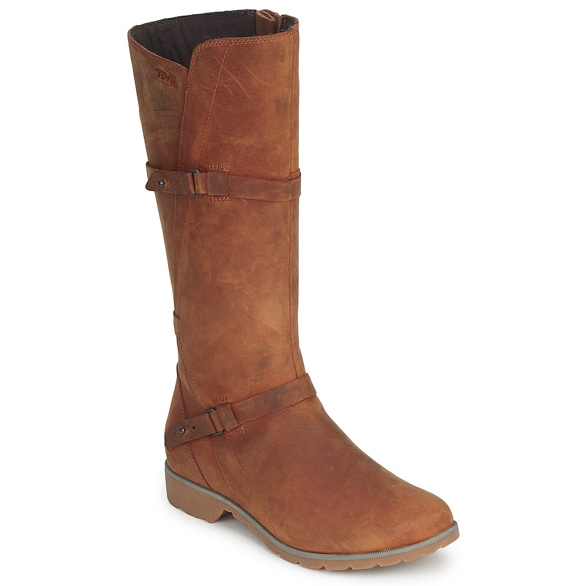 Teva DELAVINA LEATHER Braun - Kostenloser Versand bei Spartoode ! - Schuhe Klassische Stiefel Damen 127,20 €
