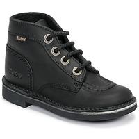 Schuhe Kinder Boots Kickers KICK COL Schwarz