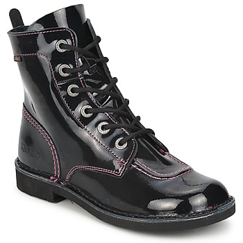 Schuhe Mädchen Boots Kickers KICK MOOD Schwarz