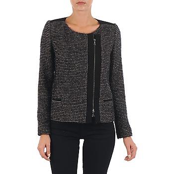 Kleidung Damen Jacken / Blazers Lola VIE LUREX Schwarz / Beige