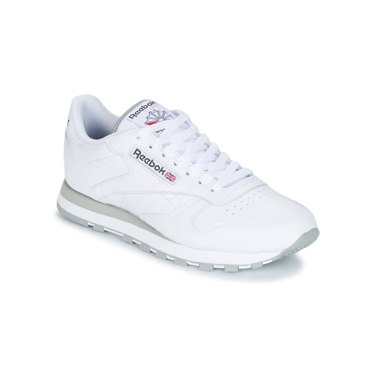 Reebok Classic CL LEATHER Weiss - Kostenloser Versand bei Spartoode ! - Schuhe Sneaker Low Herren 72,00 €