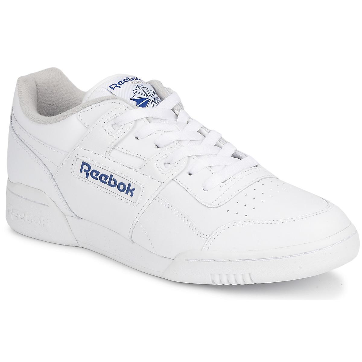 Reebok Classic WORKOUT PLUS Weiss - Kostenloser Versand bei Spartoode ! - Schuhe Sneaker Low  72,00 €