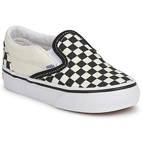 Schuhe Kinder Slip on Vans CLASSIC SLIP ON KIDS Schwarz / Weiss