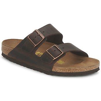 Schuhe Herren Pantoffel Birkenstock ARIZONA LARGE FIT Lackviolett