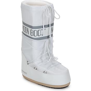 Schuhe Damen Schneestiefel Moon Boot CLASSIC Weiss / Silbern