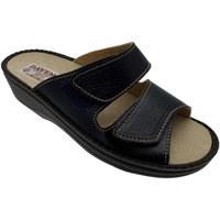 Schuhe Herren Pantoffel Davema DAV198b blu