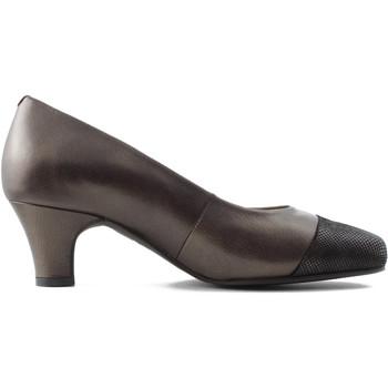 Schuhe Damen Pumps Drucker Calzapedic komfortable Lounge und breit BRAUN