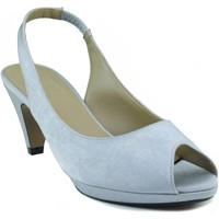 Schuhe Damen Sandalen / Sandaletten Marian niedrigen Absatzschuh GRAU