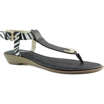 Schuhe Damen Zehensandalen MTNG MUSTANG VACHE SCHWARZ