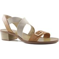 Schuhe Damen Sandalen / Sandaletten MTNG MUSTANG Quadrat Heel Sandale BRAUN