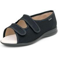 Schuhe Damen Sandalen / Sandaletten Calzamedi offenen Klett orthopädische Sandale SCHWARZ