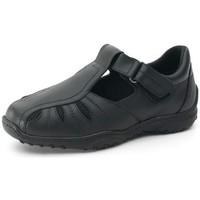 Schuhe Herren Derby-Schuhe Calzamedi Sandale  mens pied diabétique SCHWARZ