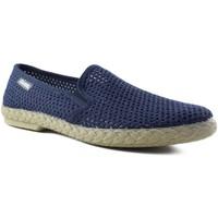 Schuhe Herren Leinen-Pantoletten mit gefloch Cabrera  BLAU