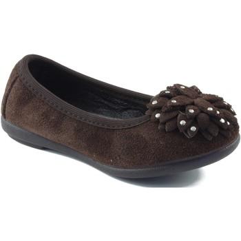 Schuhe Mädchen Ballerinas Vulladi Ballerina mit Gummi BRAUN