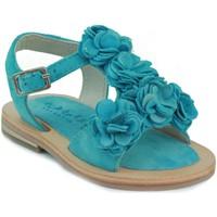 Schuhe Mädchen Sandalen / Sandaletten Oca Loca OCA LOCA Baby Sandale Blumen HIMMLISCH