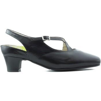 Schuhe Damen Pumps Drucker Calzapedic breite anatomische komfortable Flexible F SCHWARZ