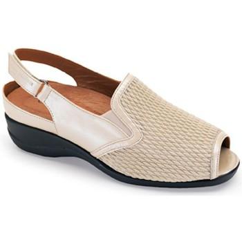 Schuhe Damen Sandalen / Sandaletten Calzamedi Sandale elastische Klinge BEIGE