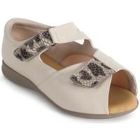 Schuhe Damen Sandalen / Sandaletten Calzamedi bequemen orthopädischen Frau BEIGE