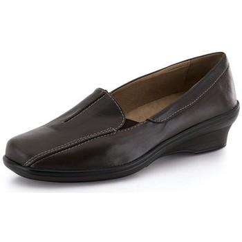 Schuhe Damen Slipper Calzamedi Mokassin komfortable konturierte BRAUN