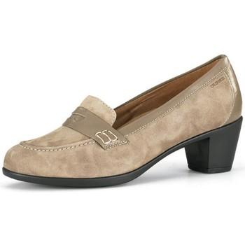 Schuhe Damen Pumps Calzamedi breite Mokassin besondere Frau BEIGE