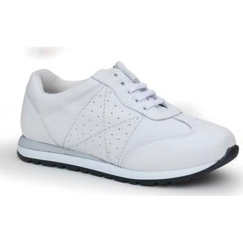 Schuhe Damen Sneaker Low Calzamedi bequeme Sport Frau WEIB