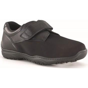 Schuhe Herren Derby-Schuhe Calzamedi diabetischen Velcro elastische Klinge SCHWARZ