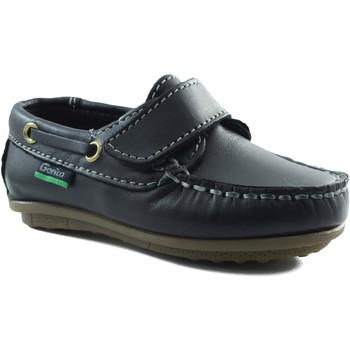Schuhe Jungen Bootsschuhe Gorila Mokassin Kind mit Klettverschluss MARINE