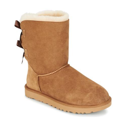 Schuhe Damen Boots UGG BAILEY BOW II Beige