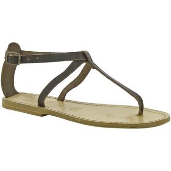 Schuhe Damen Sandalen / Sandaletten Gianluca - L'artigiano Del Cuoio 582 D MORO LGT-CUOIO Testa di Moro