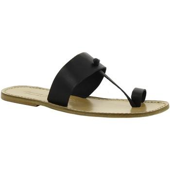 Schuhe Damen Pantoffel Gianluca - L'artigiano Del Cuoio 554 U NERO LGT-CUOIO nero