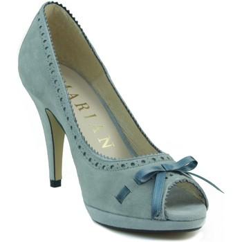 Schuhe Damen Pumps Marian bequemen Schuhabsatz Nubuk BLAU