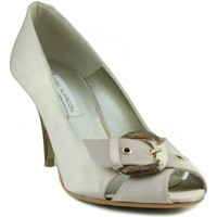 Schuhe Damen Pumps Angel Alarcon Partei Schuh Offener BRONZE
