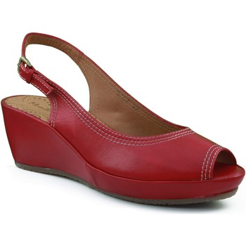 Schuhe Damen Sandalen / Sandaletten Montesinos Keilschuh mit bequemen und anatomischen ROT
