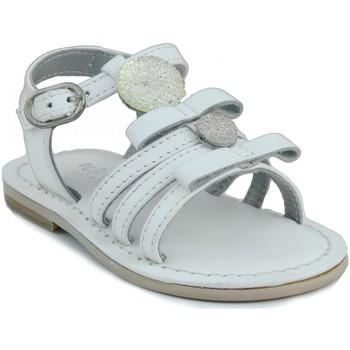 Schuhe Mädchen Sandalen / Sandaletten Oca Loca OCA LOCA Leder Baby Sandale WEIB