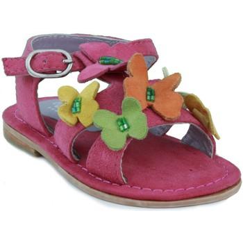 Schuhe Mädchen Sandalen / Sandaletten Oca Loca OCA LOCA Nubuk Sandale Mädchen FUXIA