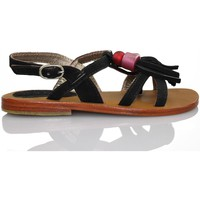 Schuhe Mädchen Sandalen / Sandaletten Oca Loca OCA LOCA gesäumten Sandale SCHWARZ