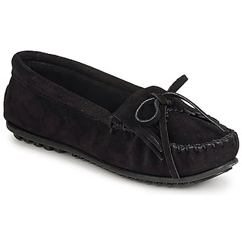 Schuhe Damen Slipper Minnetonka KILTY SUEDE MOC Schwarz