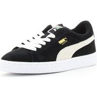 Schuhe Kinder Sneaker Low Puma SUEDE JR Noir/Blanc