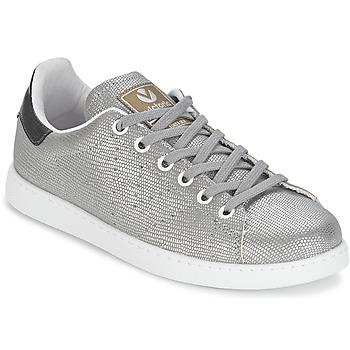 Schuhe Damen Sneaker Low Victoria DEPORTIVO BASKET TEJIDO FANT Silbern