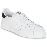 Schuhe Damen Sneaker Low Victoria DEPORTIVO BASKET PIEL Weiss / Schwarz
