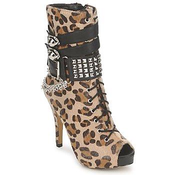 Schuhe Damen Low Boots Abbey Dawn PLATFORM BOOTEE Leopard
