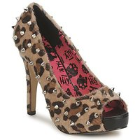 Schuhe Damen Pumps Abbey Dawn PLATFORM PEEPTOE Leopard