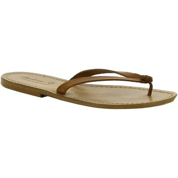 Schuhe Damen Pantoffel Gianluca - L'artigiano Del Cuoio 540 D CUOIO CUOIO Cuoio