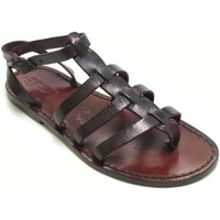 Schuhe Herren Sandalen / Sandaletten Gianluca - L'artigiano Del Cuoio 505 D MORO CUOIO Testa di Moro