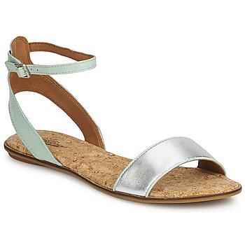 Schuhe Damen Sandalen / Sandaletten Lucky Brand COVELA Schwarz /indian magente / Silber