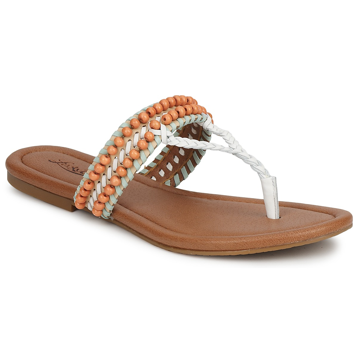Lucky Brand DOLLIS Weiss / Schwarz /indian magente - Kostenloser Versand bei Spartoode ! - Schuhe Sandalen / Sandaletten Damen 90,99 €