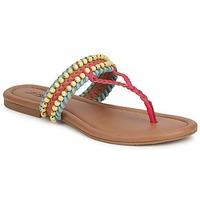 Schuhe Damen Sandalen / Sandaletten Lucky Brand DOLLIS Dark / Camel / Capri / Blau